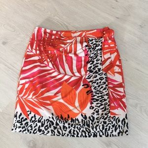 Cache tropical print skirt
